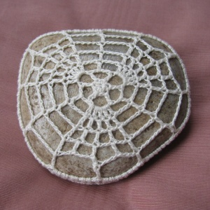 spider's web by Lucy Croft in Simply Crochet